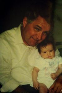 Me and Grandpa, I don't quite get the concept of smiling for the camera yet