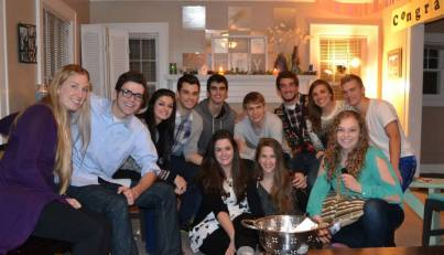 Surrounded by some of my favorite people, taken in KC at my graduation party, three weeks before moving