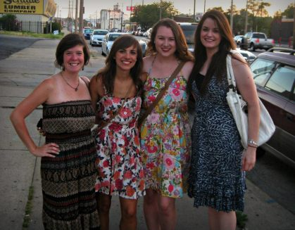 The amazing women I moved in with after the Plaza apartment. From left: Jordan, Christiana, Erica and I